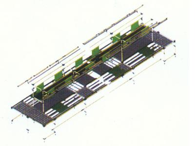 环型手推工装板生产线